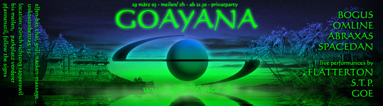flyer of goayana (by goa-trance.ch)